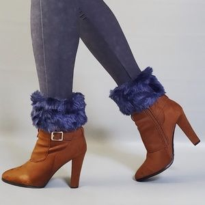Black Faux Fur Boot Toppers.